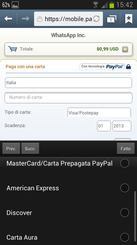 Screenshot 2013 02 02 15 42 18 576x1024 Come Rinnovare WhatsApp con PostePay, SuperFlash o alta Carta [Android]