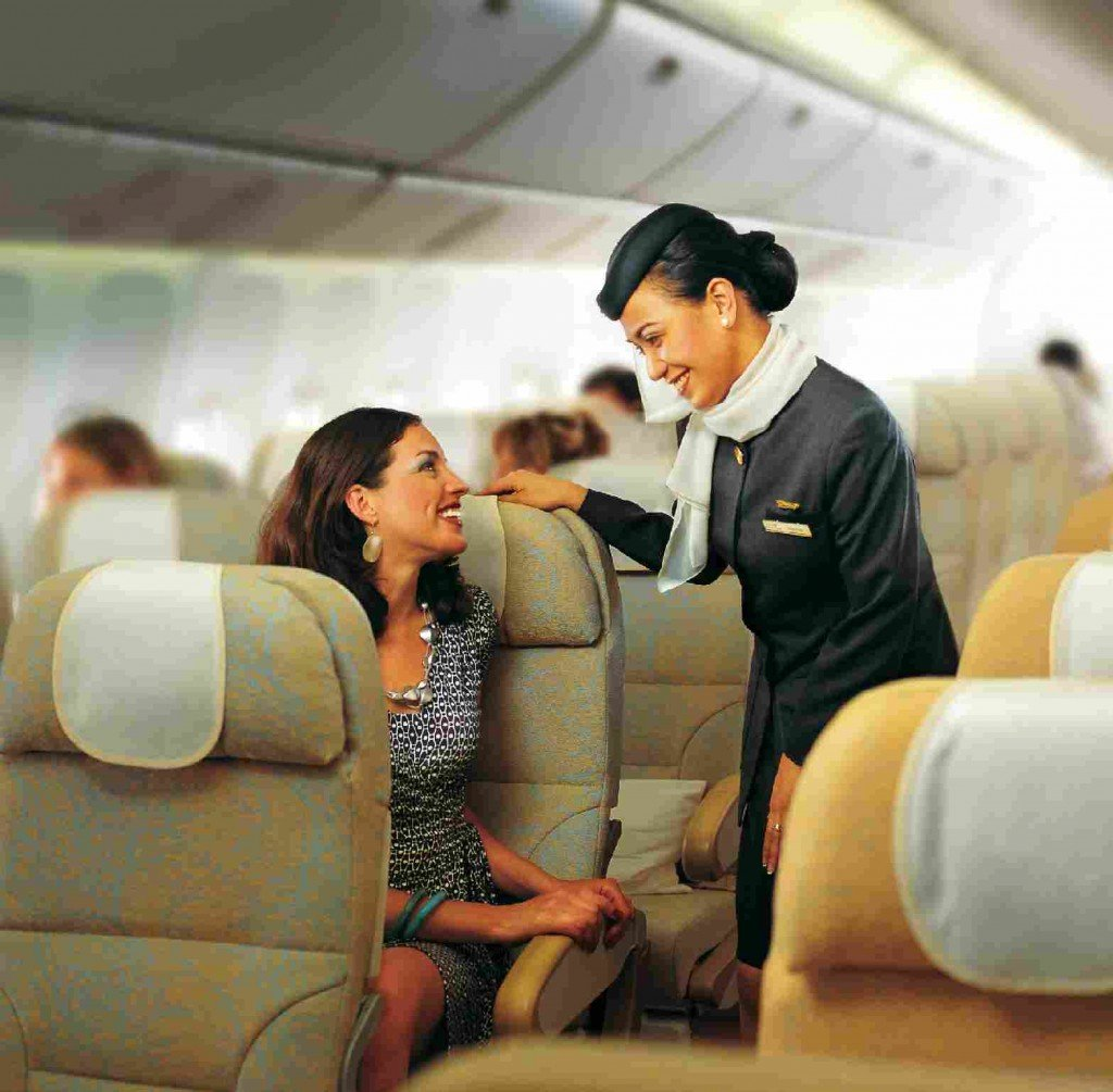 Etihad hostess