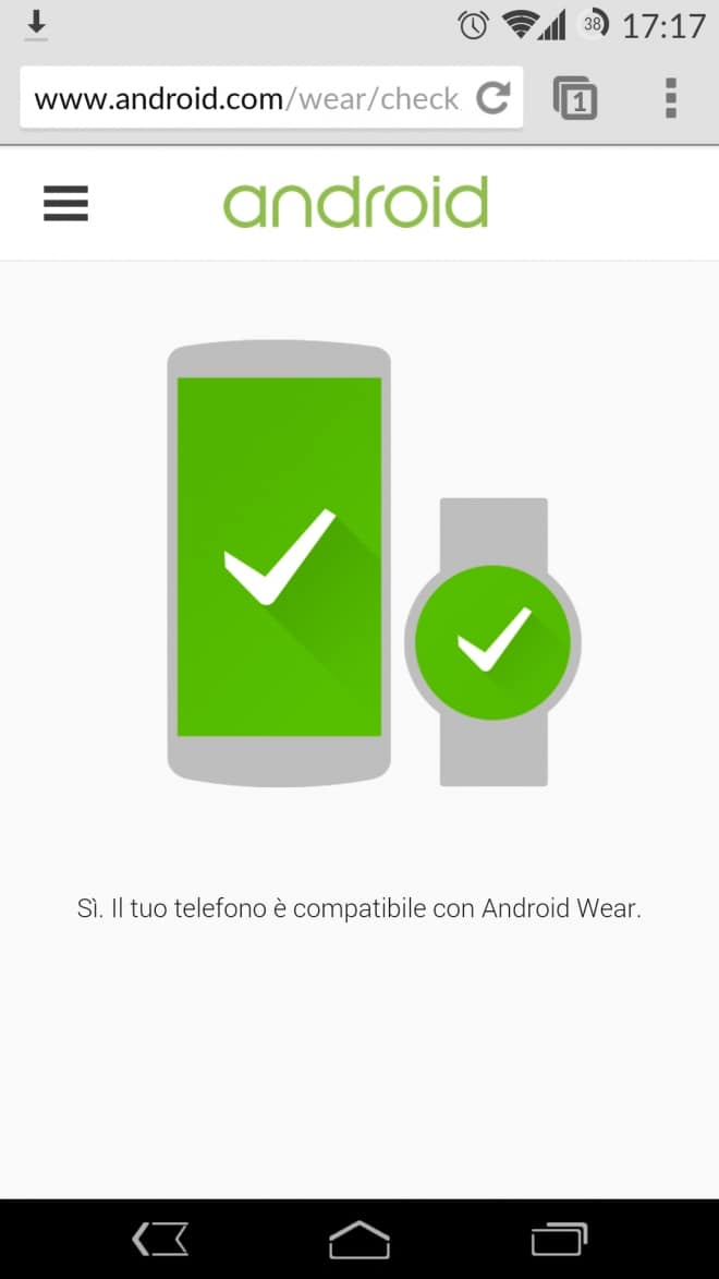 Android Wear Smartphone Comparibility
