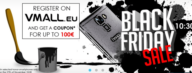Black Friday per Honor, solo su Vmall