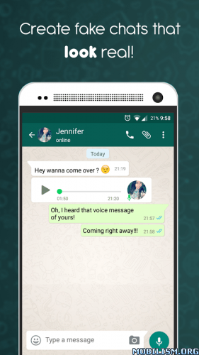 Creare false conversazioni e chat di WhatsApp