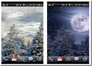 snowfall-android-wallpaper