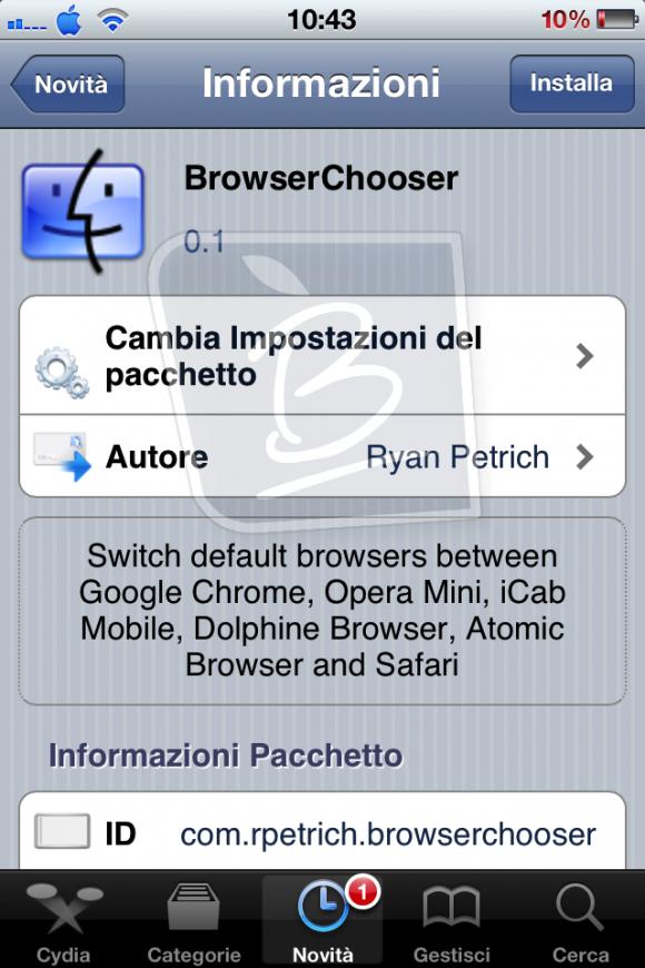 how to make google chrome default browser on ipad