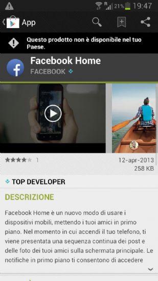 Download Facebook Home APK per Android