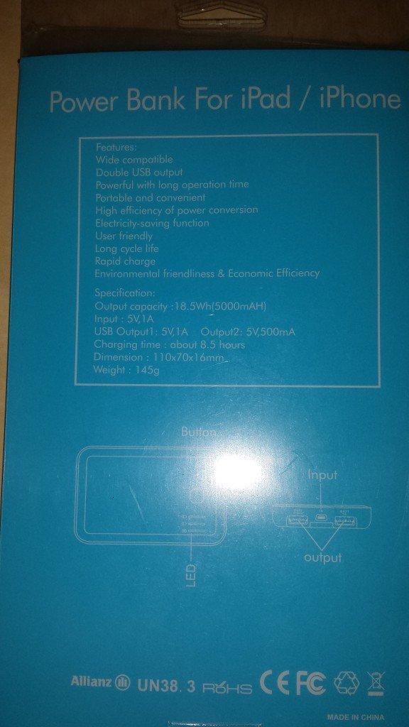 Batteria Esterna Solare da 5000 mAh (6)