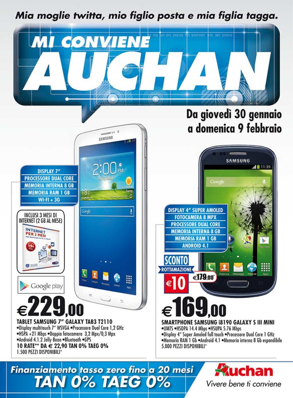 Ecco il volantino tecnologico di auchan con tante offerte - Auchan porta di roma offerte ...