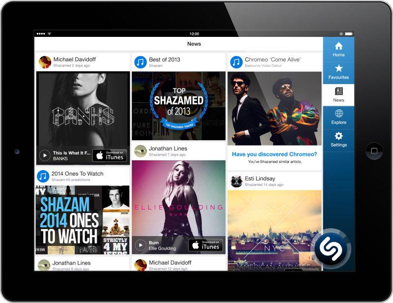 Shazam_iPad News Feed