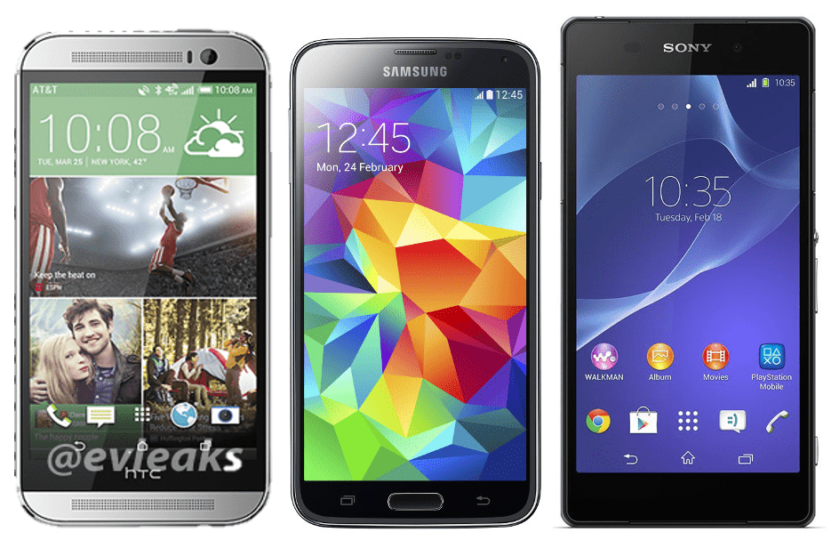 Galaxy s5 vs xperia z2 vs the all new htc one quale for Quale smartphone scegliere