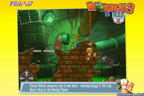 Trucchi, cheat, hack Worms 3 v 1.82 APK per Android: soldi illimitati e sbloccare tutto
