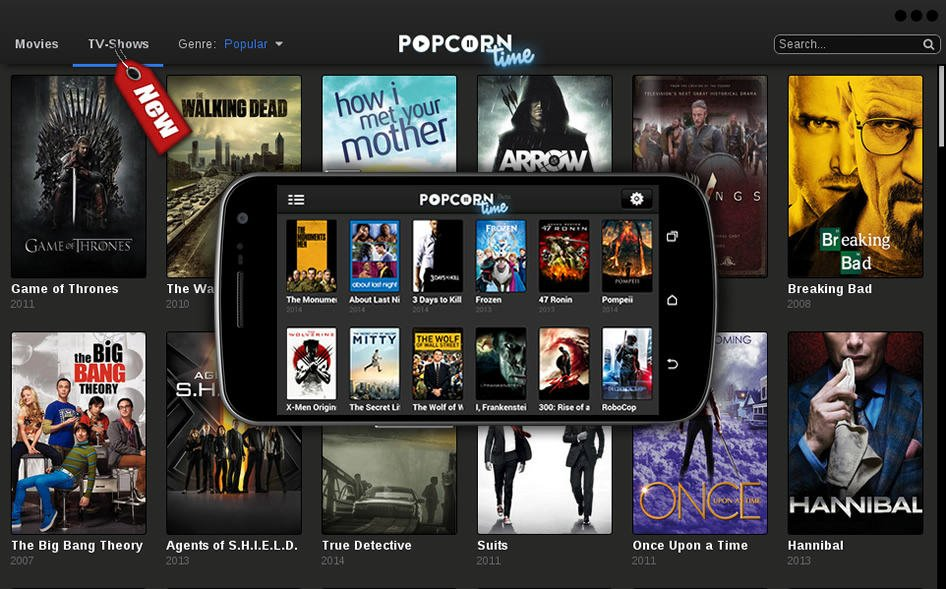 Download Popcorn Time v 1.3.2 BETA APK per Android