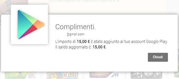 Google Play Carte Regalo Utilizzo 2