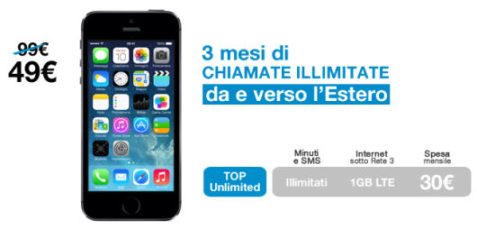 Summer edition di 3 italia compra l 39 iphone 5s risparmiando for Iphone x 3 italia