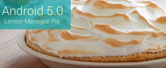 Android 5.0 Lemon Meringue Pie
