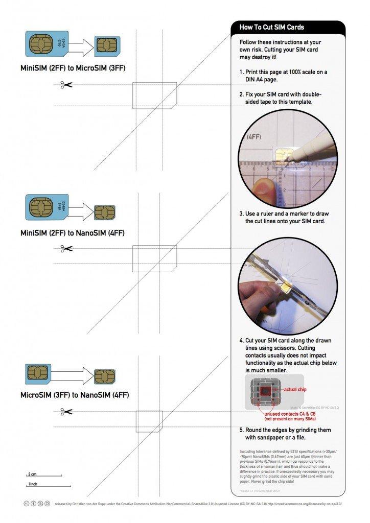 Come creare una Micro e Micro SIM con il fai da te