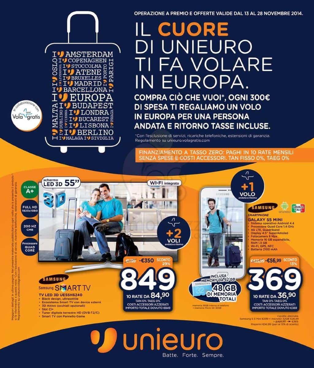 volantino unieuro per ogni 300 euro di spesa in regalo un