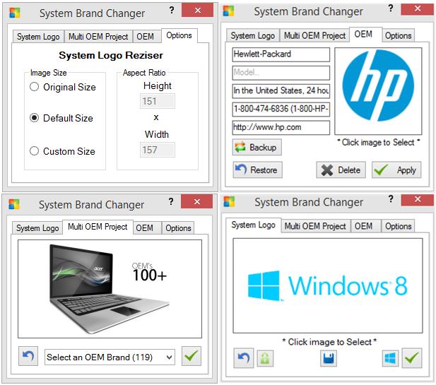 System brand changer cambiare il logo del vostro pc nelle for Brand windows