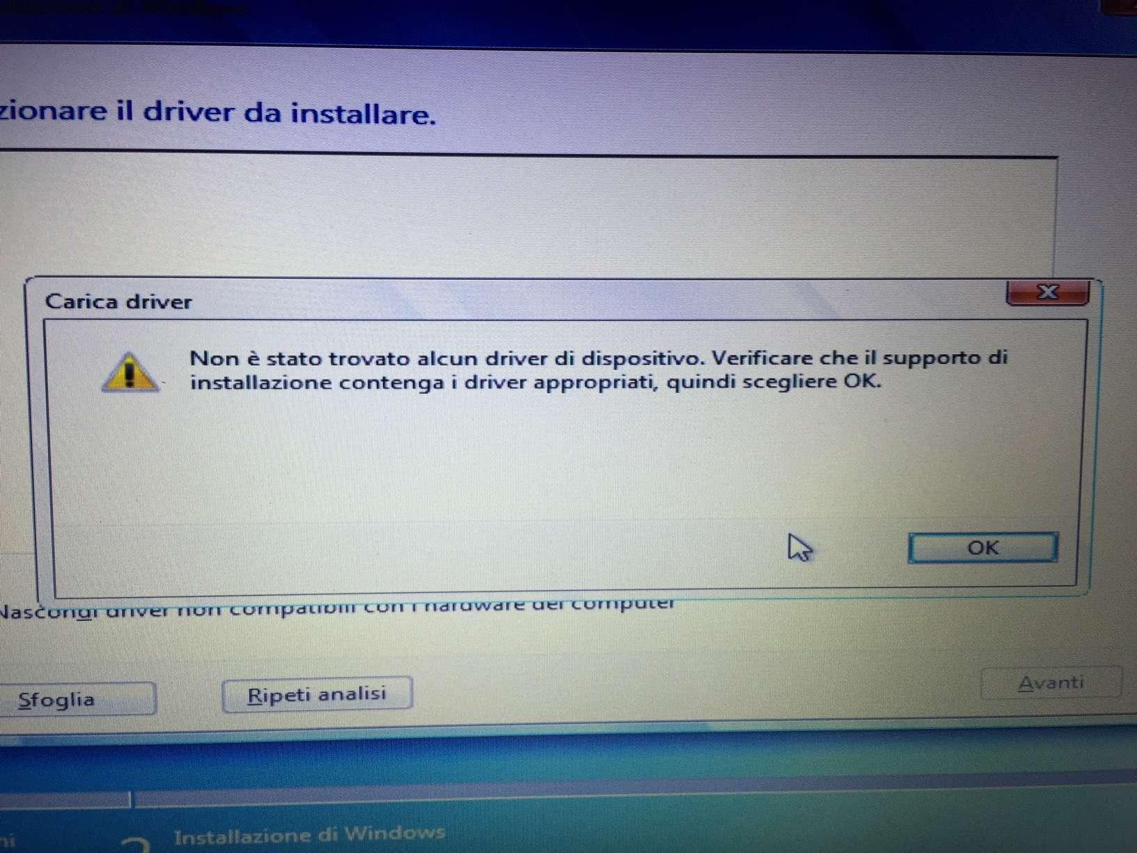 come installare windows 7 da usb