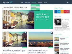 Migliori Temi WordPress Gratis - HarmonUX Core