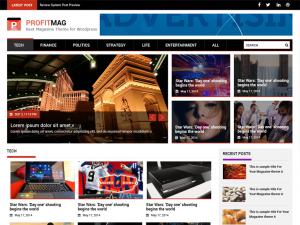 Migliori Temi WordPress Gratis - ProfitMag