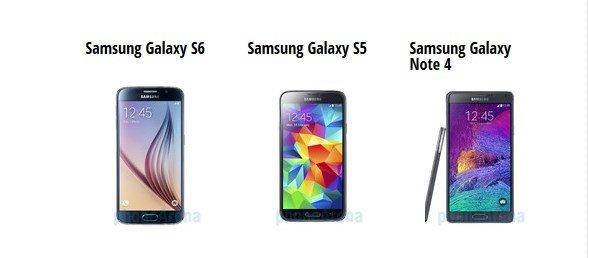 S6 vs S5 vs Note 4