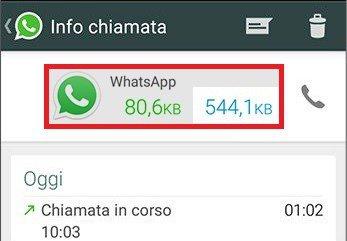 Traffico Chiamate WhatsApp