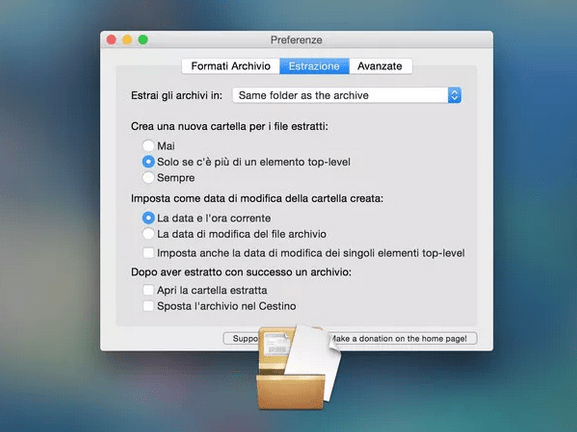 aprire file rar con mac