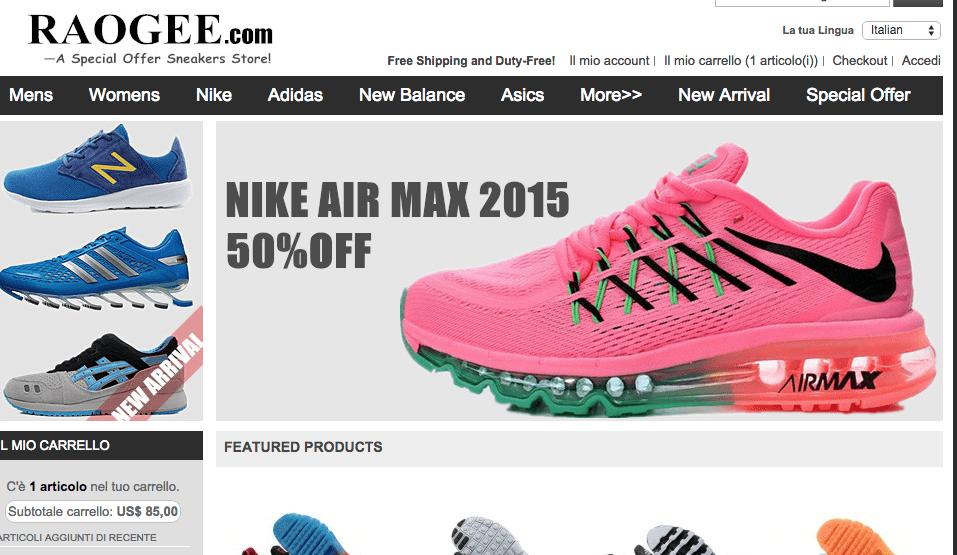 dove posso trovare scarpe nike a poco prezzo