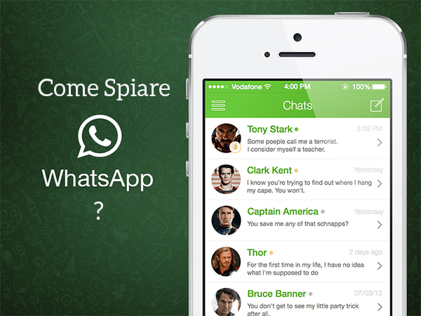 Come spiare chat whatsapp gratis