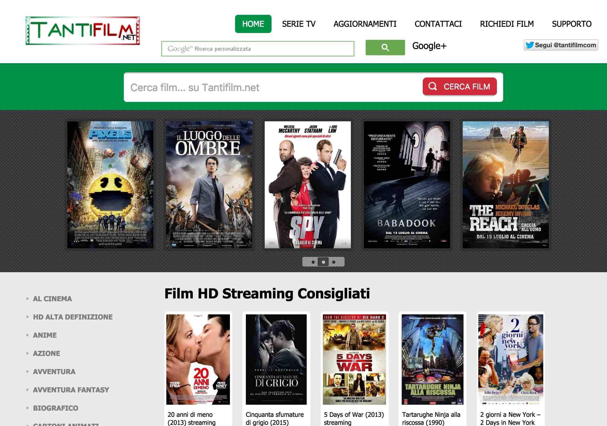 Guardare film streaming con Tantifilm.net