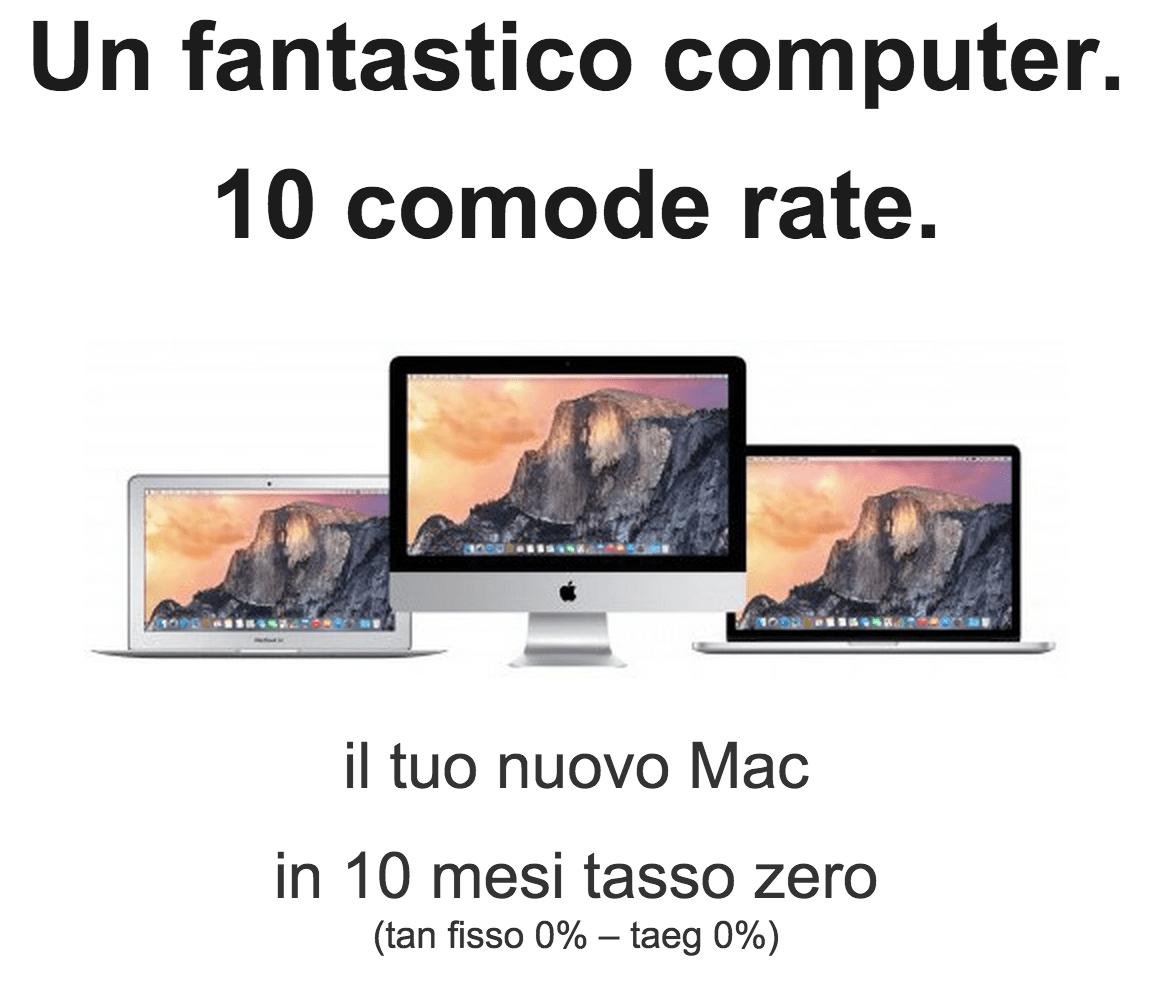 Comprare Mac a rate