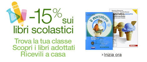 Libri scolastici scontati su Amazon
