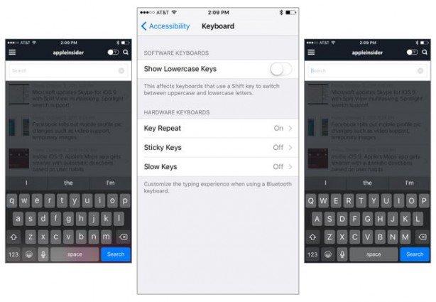 Come ripristinare tastiera maiuscolo in iOS 9