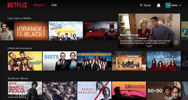 Netflix sbarca ufficialmente in Italia
