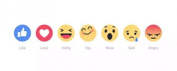 Facebook Mi Piace Reazioni