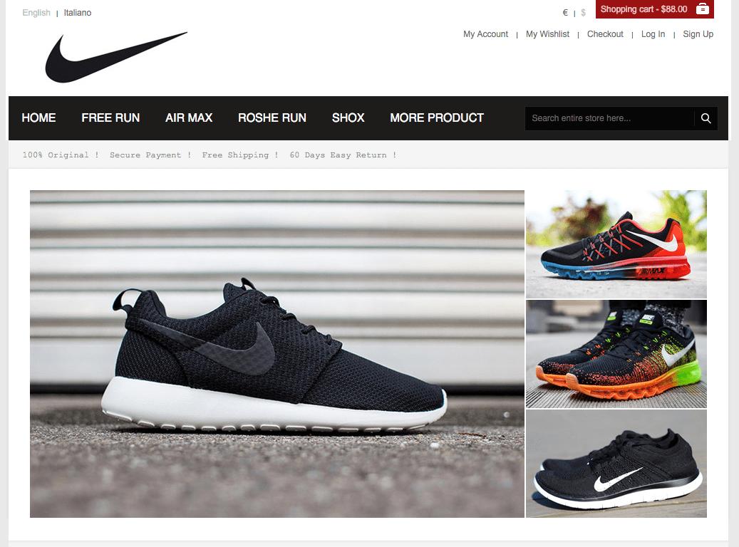 siti dove comprare scarpe nike