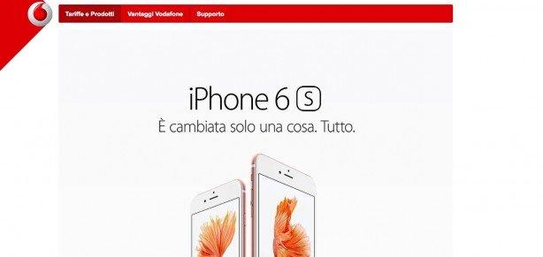 Vodafone pubblica le offerte per acquistare i nuovi iPhone 6s e 6s Plus