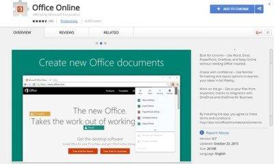 Usare Office gratis online su Google Chrome