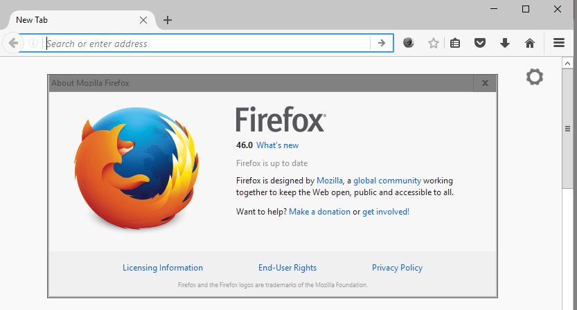 Firefox 46 Italiano per Win, MAC, Linux ed Android: Download