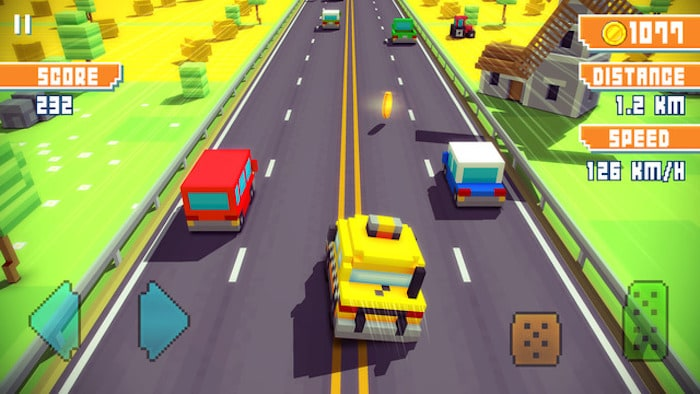 Trucchi Blocky Highway per iPhone e iPad