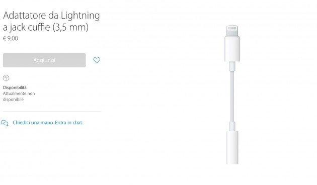 dove comprare adattatore da lightning a jack 3 5 mm per