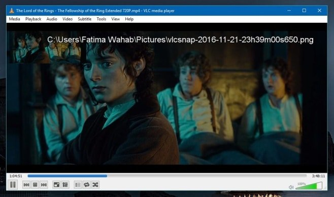vlc-screenshot-video