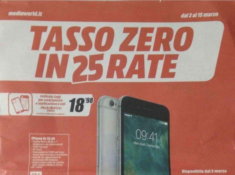 Mediaworld Lancia Il Volantino  U0026quot Tasso Zero In 25 Rate