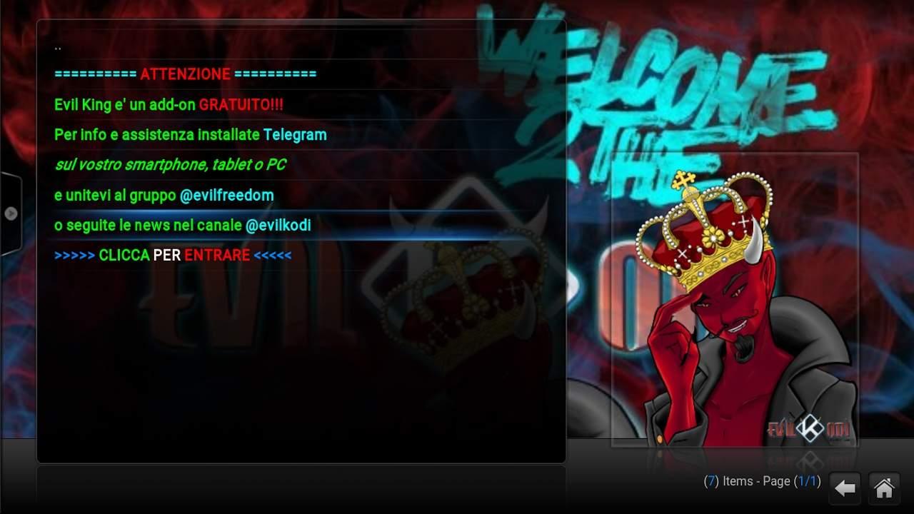 Download ultima versione Evil King: Strepitoso addon per Kodi
