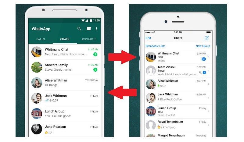 Trasferire conversazioni WhatsApp da iPhone ad Android e