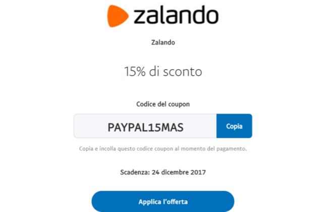 Zalando codice coupon sconto 15 dicembre 2017 for Codice coupon amazon