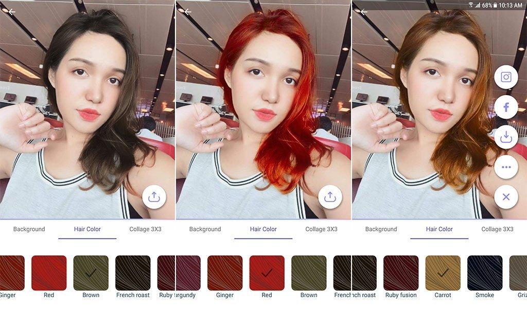 Cambiare sfondo a foto app