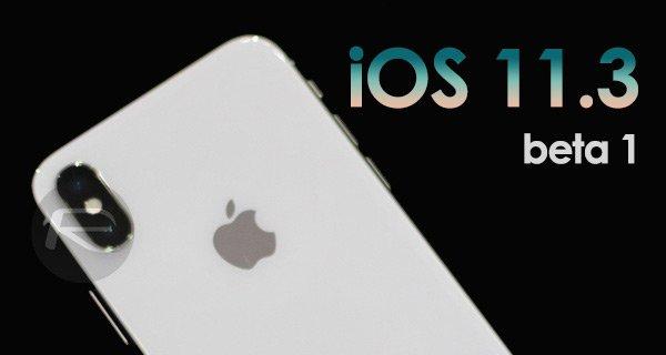 Apple rilascia iOS 11.3 beta 1 per gli sviluppatori!
