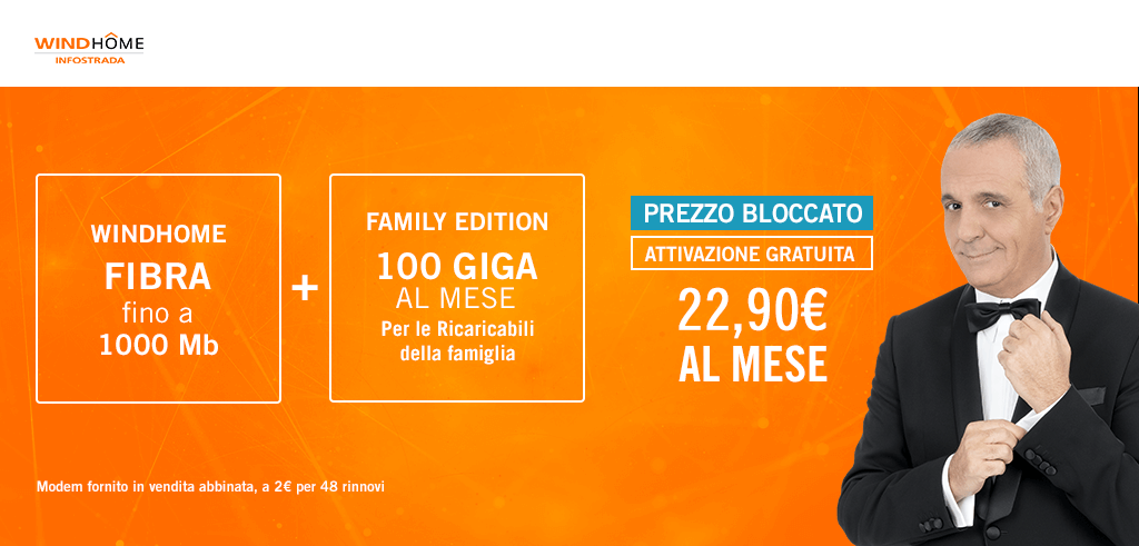 Wind Home Fibra Family Edition A 22 90 Euro Per Sempre