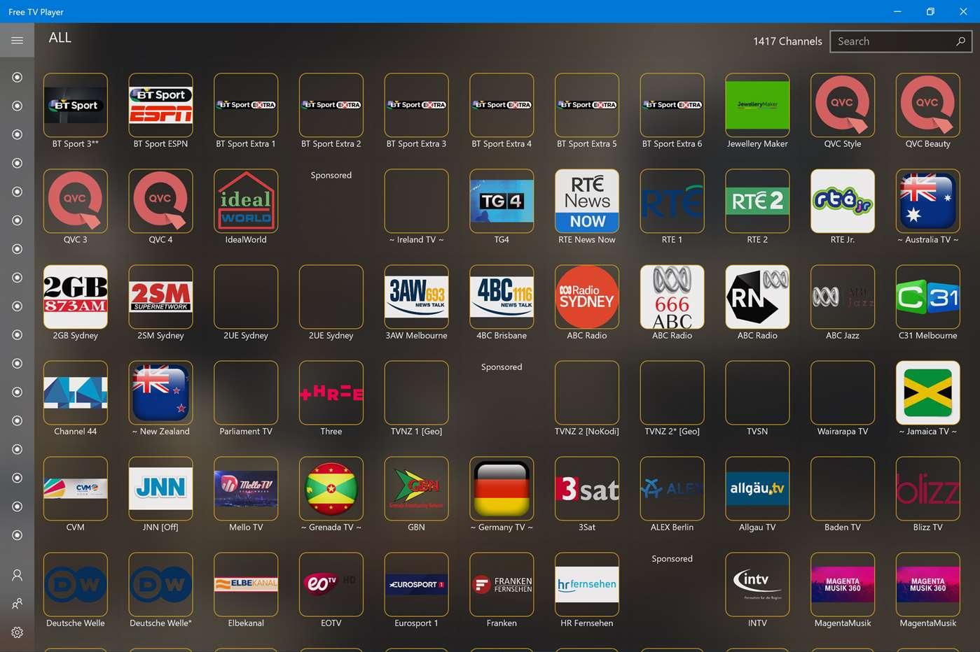 Liste IPTV Italia Gratis Con Free TV Player Per PC Windows