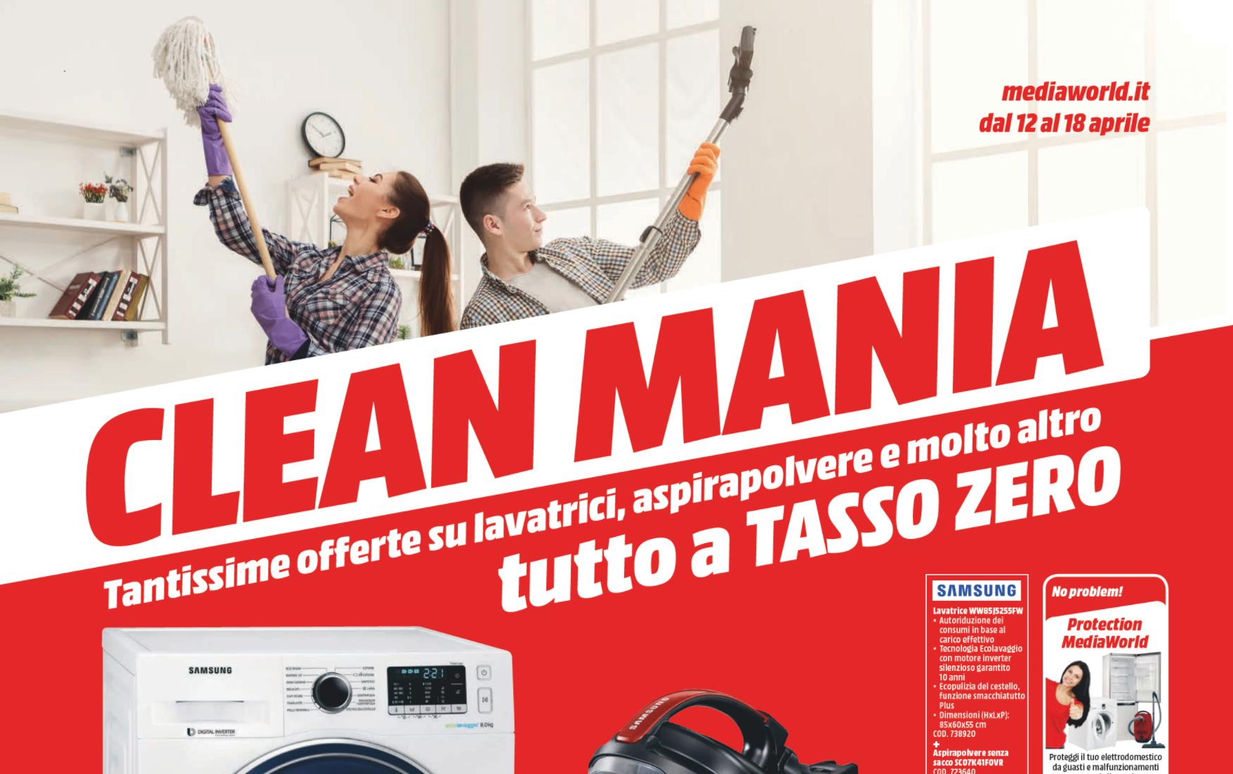 E 39 tempo di clean mania da mediaworld 12 18 aprile 2018 - Mediaworld lavatrici prezzi ...